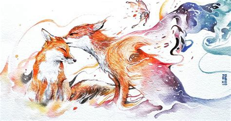 animal painting expressive watercolor animal paintings by luqman reza