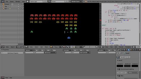 blender tutorial space creating space invaders in the blender game engine