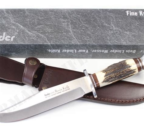 stag handle bowie knife linder bowie knife with stag handle 7 8 quot german knife shop