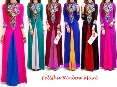 Maxi Freya Bordir Emas In ready stok baru maxi dress longdress gamis baju