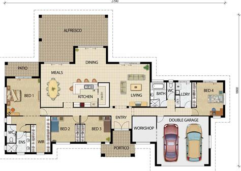 acreage floor plans modern house