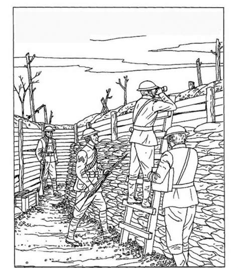 First World War Free Colouring Pages World War 1 Coloring Pages