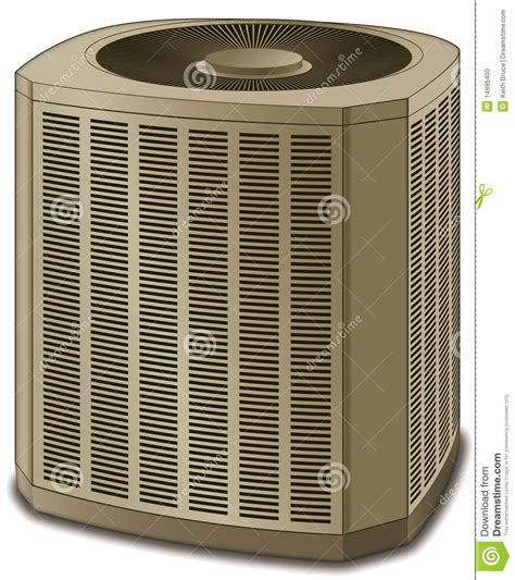 air conditioner conditioning unit beige stock illustration