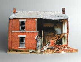 miniature homes models if it s hip it s here archives small scale models of decaying homes built and photographed