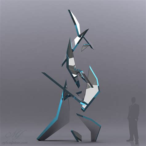 quot fracture quot modern glass sculpture mike fields bronzes