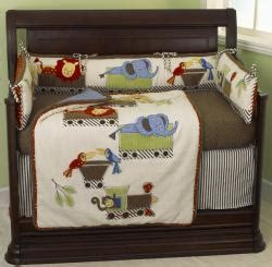 Overstock Crib Bedding Cotton Tale Animal Tracks 8 Crib Bedding Set Overstock Shopping Big Discounts On