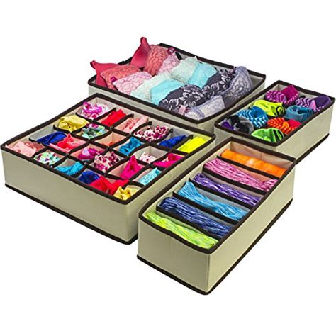 under bed organizer sorbus set of 4 foldable drawer dividers storage boxes