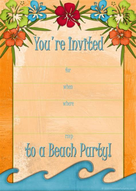 luau invitations templates free free printable luau and bbq invitations