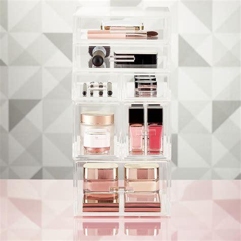 Tempat Kosmetik Lipstick Shelf Acrylic luxe acrylic modular makeup storage the container store