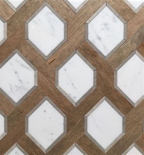 wood tile patterns renaissance tile and bath s white marble and nougat wood
