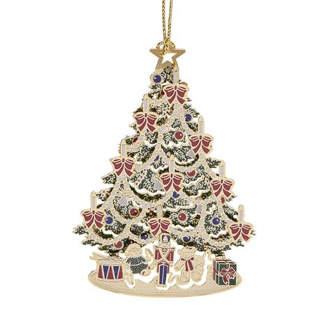 classic tree ornament 2017 chemart ornaments solid brass ornament