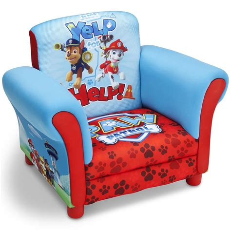 paw patrol chair upholstered kids bedroom toddler