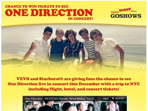 1d Sweepstakes - one direction flyaway sweepstakes