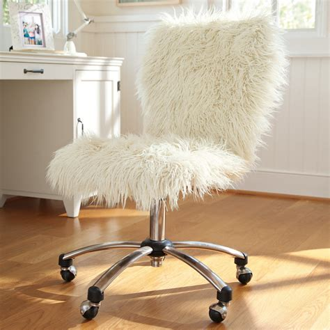 cool desks for girls cool white fluffy desk swivel chair for girls decofurnish