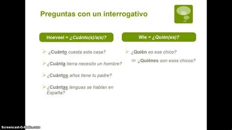 preguntas de español vragen hacer preguntas en espa 241 ol parte 1 youtube