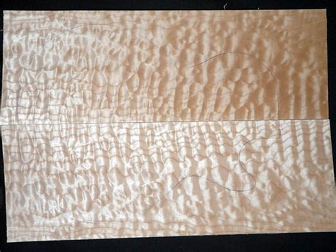 bookmatched guitar tonewood top sets curly maple quilted