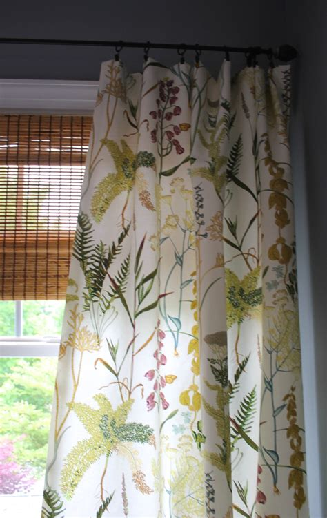 botanical curtains botanical fern floral curtain panels custom by