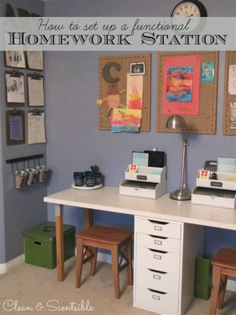 homework desk ideas kids homework station art station homework and homework