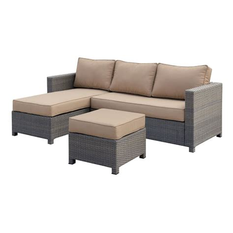 furniture of america wiley 3 patio wicker sectional