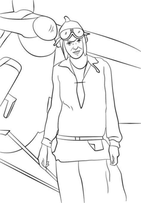 Amelia Earhart Coloring Page amelia earhart coloring page free printable coloring pages
