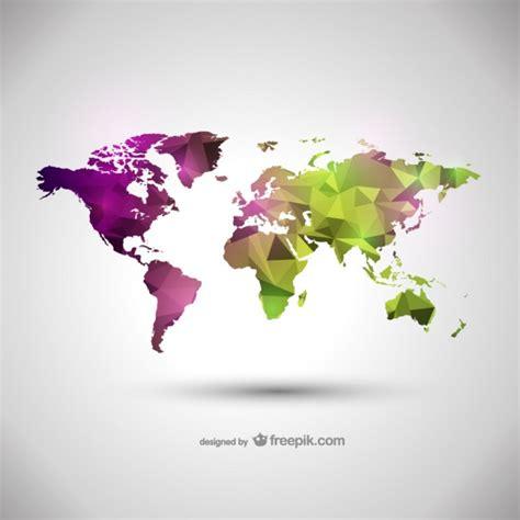 world map illustration free world map vector geometric illustration vector free