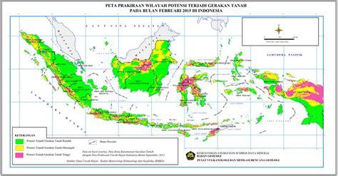 februari ancaman gerakan tanah  indonesia makin