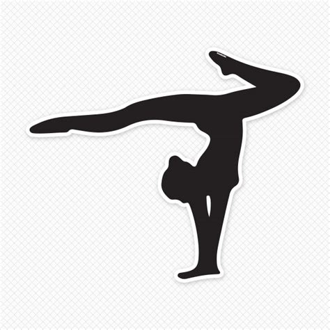 tattoo hand stand gymnastics silhouette wall decal gymnast outline