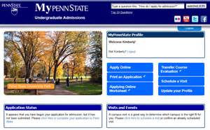 Apply Penn State Mba by Penn State Application Status
