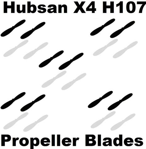 Best Blade Set Hubsan X4 H107l X6 X6 310b H107c Jakartahobby www hobbyflip drones and helicopter parts hubsan x4 h107l propeller blades props