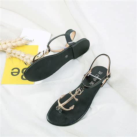 anchor sandals nautical anchor sandals flat shoes simple