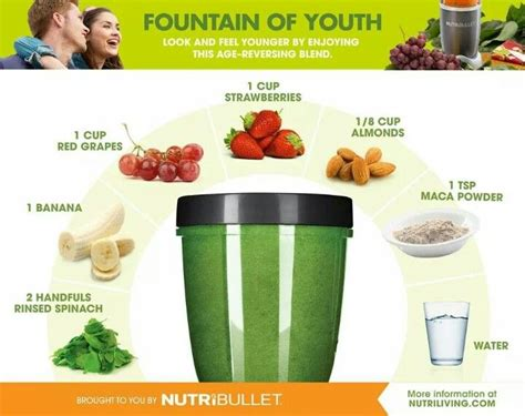 printable nutri ninja recipes fountain of youth youth and bullets on pinterest