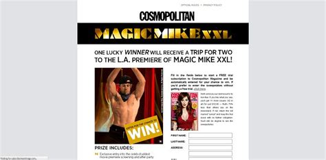 Mike And Mike Sweepstakes - cosmopolitan magazine magic mike xxl fandango sweepstakes cosmopolitan com magicmikexxl