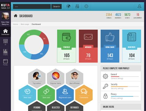 bootstrap themes icons kuta admin 3 0 bootstrap themes on creative market