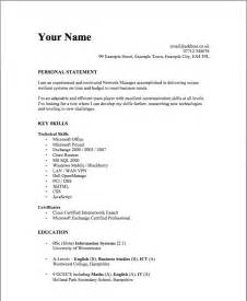 Simple Resume Exle by Doc 693471 Basic Resume Format Template Bizdoska
