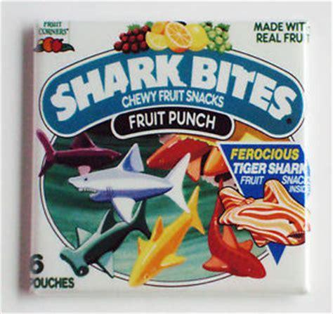 90s fruit snacks shark bites fruit snacks fridge magnet great white shark
