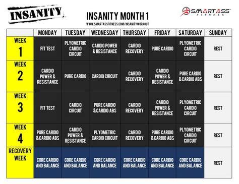 insanity workout calendar 2018 calendar printable