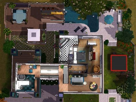 Sims 3 Modern House Floor Plans by Sims 3 Download Arjan Modern Home Modernes Haus