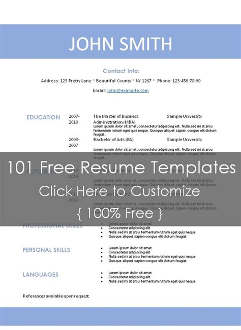 Resume Templates 101 by Simple Resume Template
