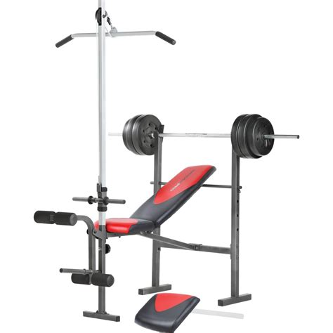 weider pro 256 weight bench combo set exercise fitness