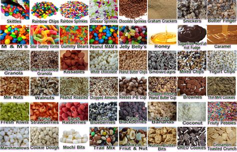 ice cream bar toppings list frozen yogurt toppings top hd wallpapers