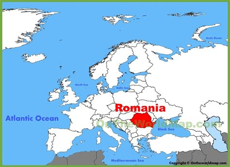 romania on the world map romania location on the europe map