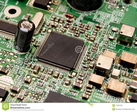 computer integrated circuit board a microchip on a circuit board royalty free stock image image 17202126