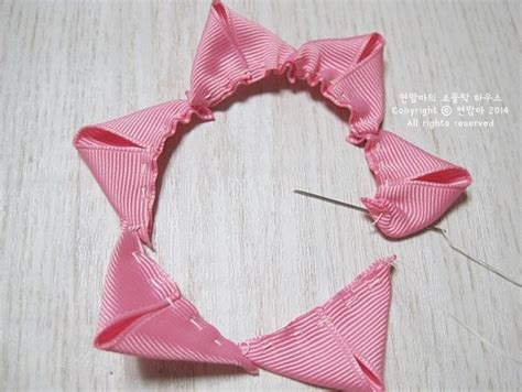 como hacer flores en cinta o liston goshii youtube como hacer flores en cintas imagui