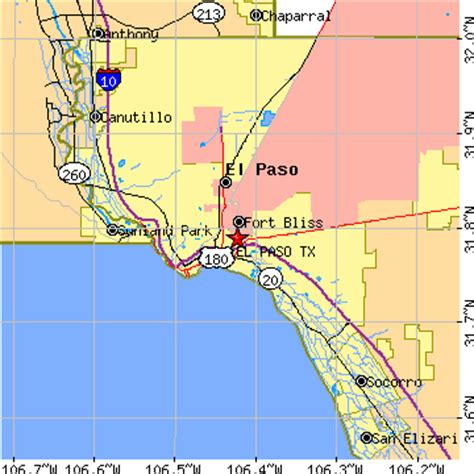 where is el co on texas map el paso texas tx population data races housing economy