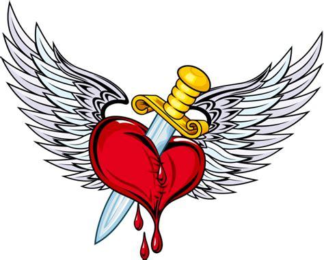 imagenes de corazones goticos con alas dibujos de corazones con alas chidos para colorear
