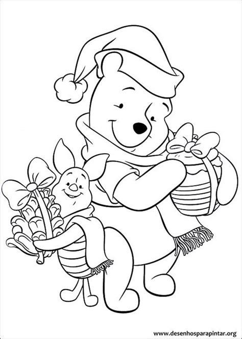 coloring pages joyeux noel desenhos do ursinho pooh de natal para imprimir colorir e
