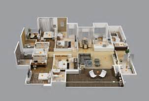 House Plans With Apartment by 4 Bedroom Apartment House Plans