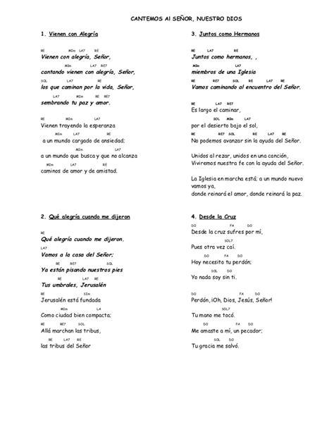 canciones para misa cancionero misa con acordes