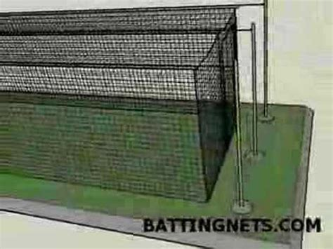 Backyard Batting Cage Plans Outdoor Batting Cage Cable Kit Suspension Youtube