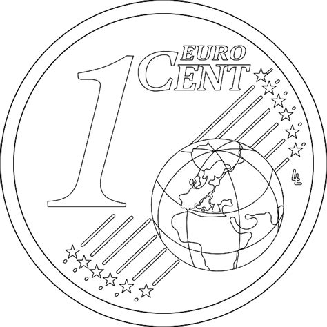 euro coloring page kostenlose vektorgrafik prozent m 252 nze euro geld